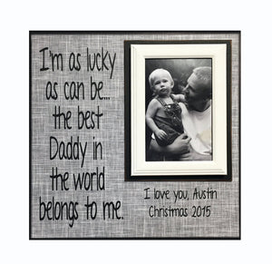 Daddy Gift from Child~ Picture Frame For Dad~ Personalized Dad Photo Frame~ Father Picture Frame for Father's Day ~ Customized Frame - MemoryScapes Personalized and Customized Picture Frame