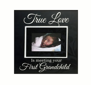 New Grandparent Gift ~ Picture Frame For Grandmother ~ GrandFather Gift ~ Customized Frame ~First Grandchild - MemoryScapes Personalized and Customized Picture Frame