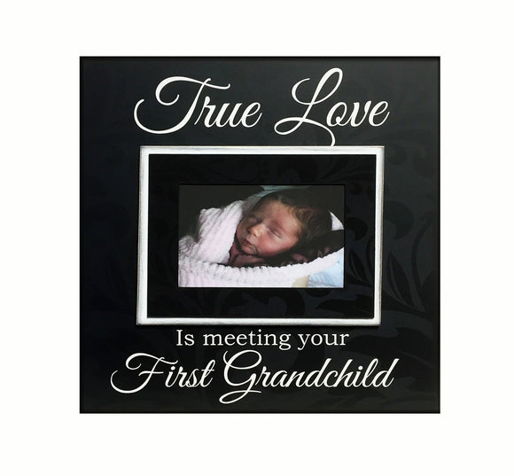 New Grandparent Gift ~ Picture Frame For Grandmother ~ GrandFather Gift ~ Customized Frame ~First Grandchild - Memory Scapes