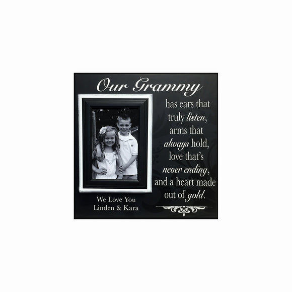 Grandmother Gift from Grandchildren ~ Picture Frame For Grandma ~ Personalized Grandmother Gift~ Ears that truly listen..Custom Frame Gift - MemoryScapes Personalized and Customized Picture Frame