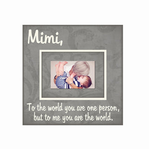 Custom Grandma Quote Frame ~ Grandmother Gift ~Picture Frame For Grandma ~ Personalized Grandmother Gift~ Mimi - MemoryScapes Personalized and Customized Picture Frame