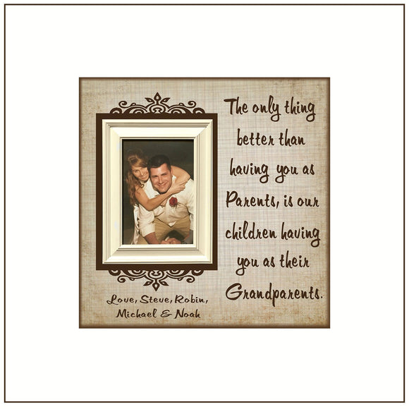 Grandparents Gift | Grandparents Ideas | Personalized Picture Frame For Grandparents | Grandparents Wall Art | Best Gifts For Grandparents - MemoryScapes Personalized and Customized Picture Frame