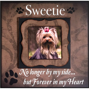 Pet Loss Frame | Pet Memorial Ideas | Dog Loss Gift Ideas | Pet Sympathy Gift Ideas | Pet Loss Remembrance | Loss of A Dog Gifts | Dog Loss - MemoryScapes Personalized and Customized Picture Frame