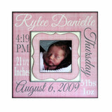 New Baby Stats Frame ~ Baby Name ~ Baby Birth Date ~ Newborn Weight ~ Length~ Gift to New Parents~ Birth Announcement ~ New Baby Gift~ 8x8 - Memory Scapes