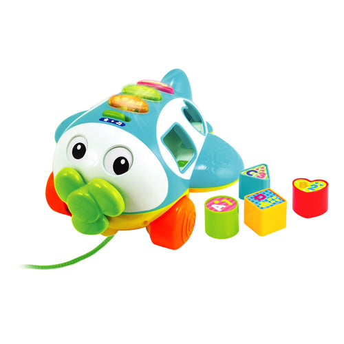 Musical Shape Sorter Plane Pull Along Toy