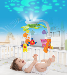 Star Projector Night Light Musical Crib Mobile