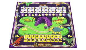 "Dinosaur ABC Alphabet Play Mat & Learning Rug For Kids Boys Girls Toddlers Playroom | Supports Key Educational Math & English Learning Standards for Preschool Kids Aged 3-5 (40""x30"")"