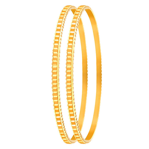 JFL - Traditional Ethnic One Gram Gold Plated Designer Bangle Set for Women & Girls.