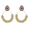 JFL - Jewellery for Less Traditional Ethnic One Gram Gold Plated Meenakari Pearl Designer Bali Earring For Women & Girls.
