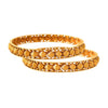 JFL-Traditional Ethnic One Gram Gold Plated Designer Bangle for Women