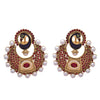 Traditional Ethnic One Gram Gold Plated Peacock Designer Stone Pearl Earring for Women & Girls