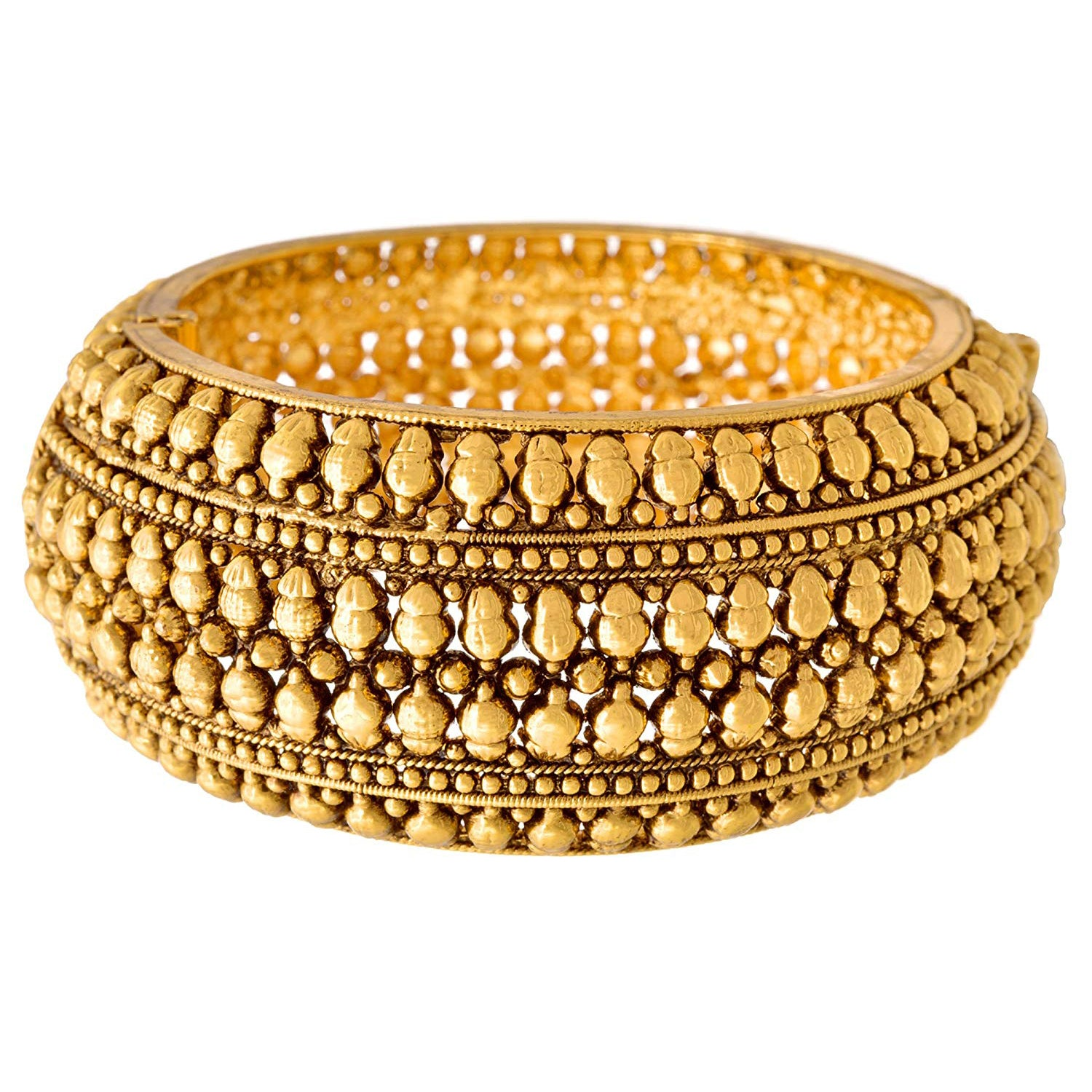 Exquisite and Ethnic Designer One Gram Gold Plated Openable Kada for Women