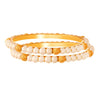JFL - Traditional Ethnic One Gram Gold Plated Pearl Designer Bangle with Women & Girls