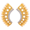 Fusion Ethnic One Gram Gold Plated Cz American Diamond Designer Earring for Women and Girls.