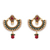 Mesmerizing Designer Earrings with Purity of Pearls.