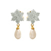 Jewellery for Less Fusion Ethnic One Gram Gold Plated Cz American Diamond Designer Earring For Girls And Women.