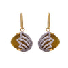 Fusion Ethnic One Gram Gold Plated Cz American Diamond Designer Earrings for Women and Girls.