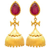 Traditional Ethnic One Gram Gold Plated Stone Designer Jhumki Earring for Women & Girls