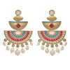 Traditional Ethnic One Gram Gold Plated Meenakari Designer Earring for Girls & Women (Turquoise Blue,Rani Pink,White)