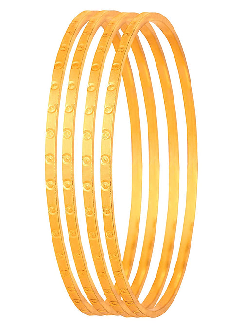 JFL-Traditional Ethnic One Gram Gold Plated Bangle Set for Girls & Women