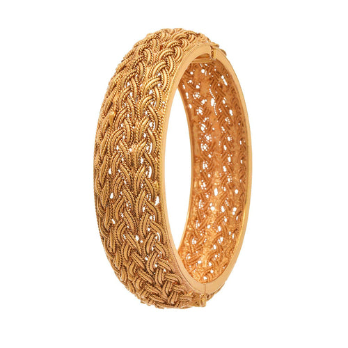 Traditional Ethnic One Gram Gold Plated Designer Openable Bangle Kada for Girls & Women