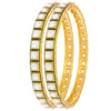 JFL -Traditional Exquisite One Gram Gold Plated Cz American Diamond Green Meenakari Designer Bangle for Women & Girls