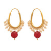 JFL - Jewellery for Less Traditional Ethnic One Gram Gold Plated Pearl Designer Earring For Women & Girls.