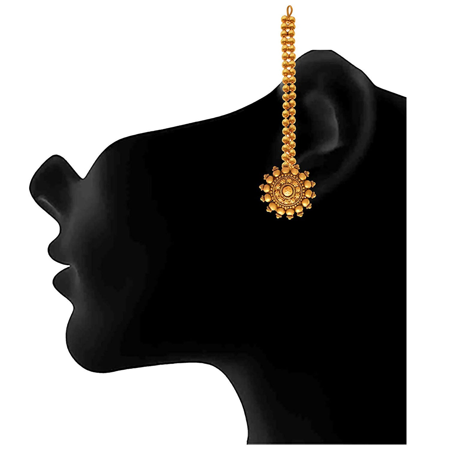 Traditional Ethnic One Gram Gold Baahubali Sivagami Inspired Earrings For Womens
