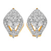 JFL - Fusion Ethnic One Gram Gold Plated Cz American Diamond Designer Earring for Women & Girls