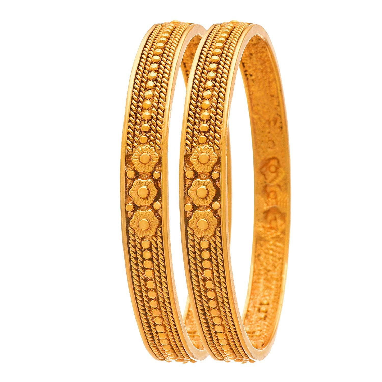 Jewellery for Less Gold Plated Bangle Set for Women