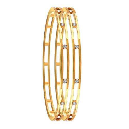 Traditonal Ethnic One Gram Gold Plated Austrian Diamond Designer Bangle for Women & Girls.