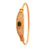 JFL - Jewellery for Less Green Traditional Ethnic 1g Gold Plated Designer Bangle Kada for Women and Girls