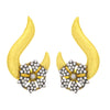 JFL- Traditional Ethnic One Gram Gold Plated Diamond Earrings For Women And Girls.