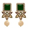 JFL - Jewellery for Less One Gram Gold Plated Diamond & Pearl Designer Earring For Women & Girls