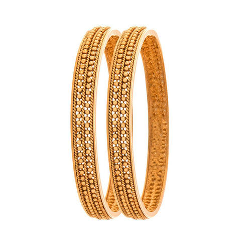JFL- Traditional Ethnic One Gram Gold Plated Bead Designer Bangle Set for Women & Girls