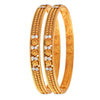 Traditional Ethnic One Gram Gold Plated Diamonds Designer Bangle Set for Women & Girls.