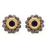 JFL - Delicate Cute Diamond Designer Blue One Gram Gold Plated Earring for Girl