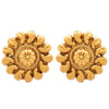JFL- Gold Plated Floral Designer Earrings
