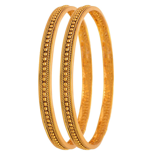 Jewellery For Less Traditional Ethnic One Gram Gold Plated Bead Designer Bangle Set For Women & Girls