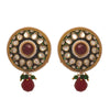 JFL - Traditional Ethnic One Gram Gold Plated Pearls Meenakari Designer Earring for Women & Girls