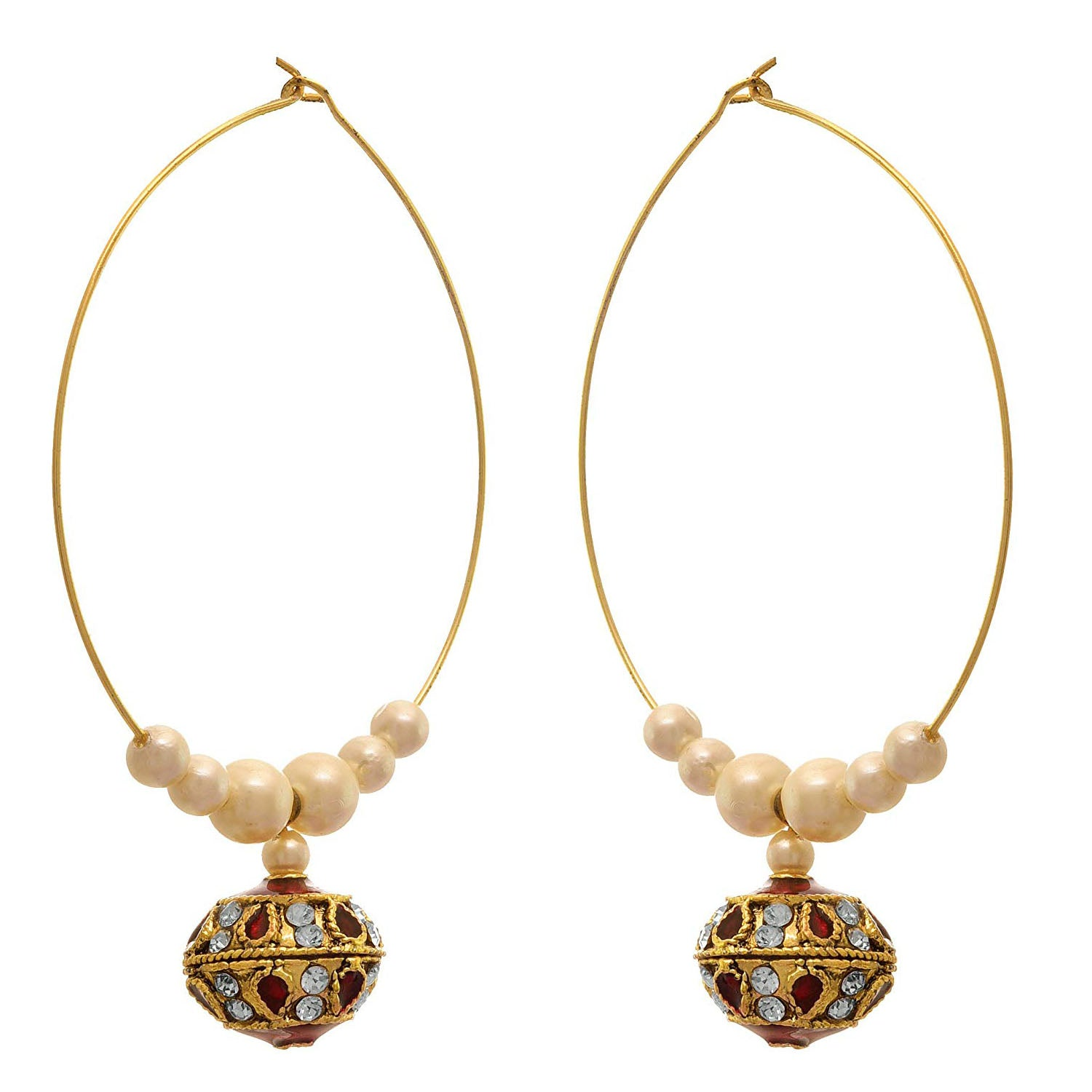 JFL - Traditional Ethnic One Gram Gold Plated Designer Bali Earring For Women & Girls.
