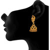 Traditional One Gram Gold Plated Peacock Designer Earring For Woman And Girls