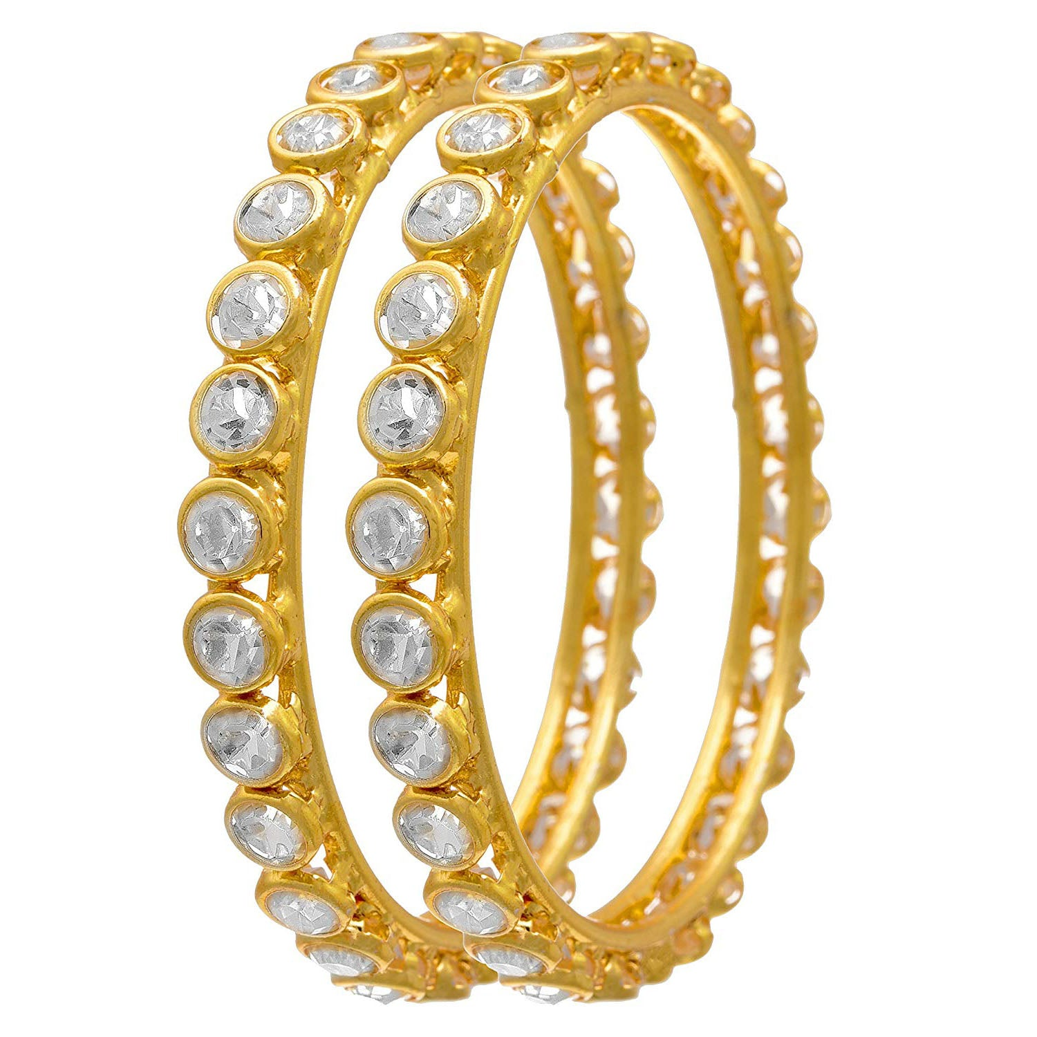 Ethnic Fusion Cz American Diamond Designer Bangle for Women & Girls