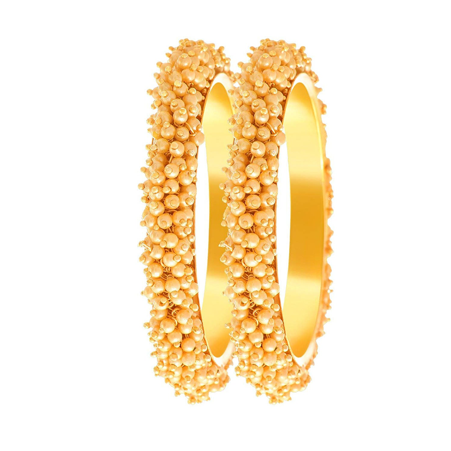 a991e74b9dfaf Traditional Ethnic One Gram Gold Plated Pear Designer Bangles for Women &  Girls.