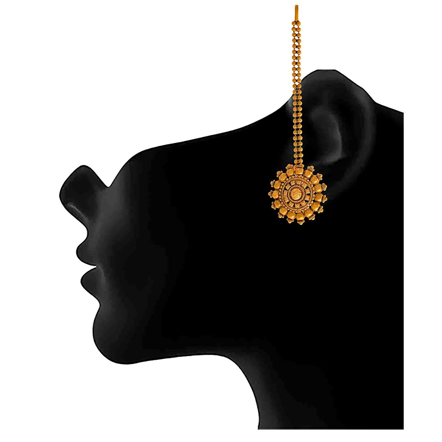 Traditional Ethnic One Gram Gold Plated Earring With Patta Designer For Women & Girls.