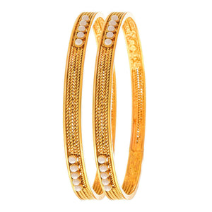 Traditonal Ethnic One Gram Gold Plated Pearl Designer Bangle for Women & Girls.