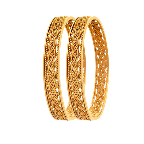 JFL -Jewellery for Less Traditional Ethnic One Gram Gold Plated Designer Bangles for Girls & Women