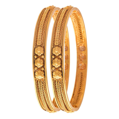 Traditional Ethnic One Gram Gold Plated Designer Bangle Set for Women & Girls.