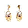 JFL - Awesome Designer Red One Gram Gold Plated American Diamond Earring for Women