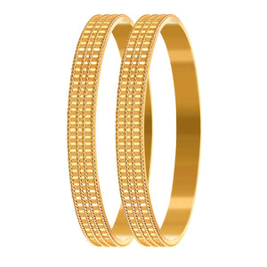 Traditional Ethnic One Gram Gold Plated Designer Bangle for Women & Girls
